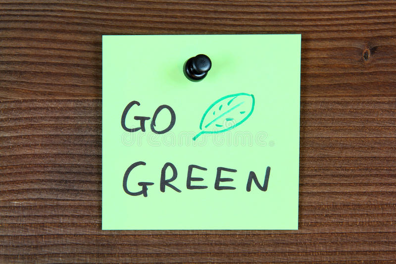 Ga groen royalty-vrije stock foto