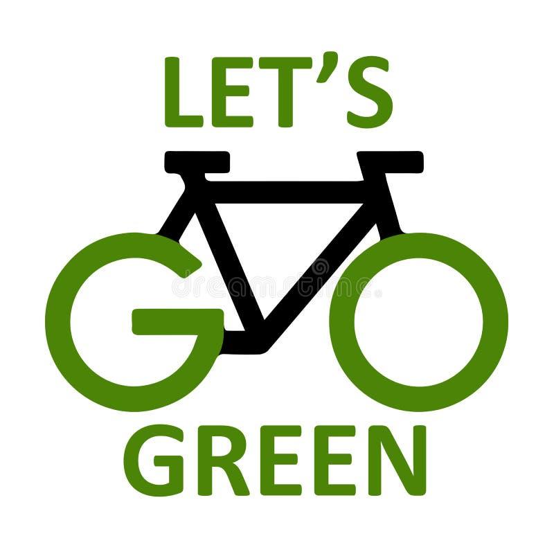 Ga groen stock illustratie