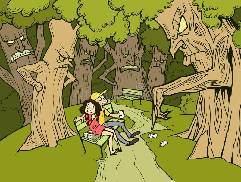 Ga groen royalty-vrije illustratie