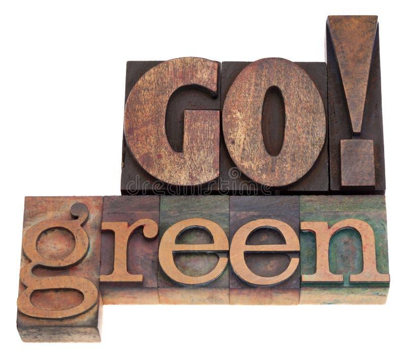 Ga groen! stock afbeeldingen