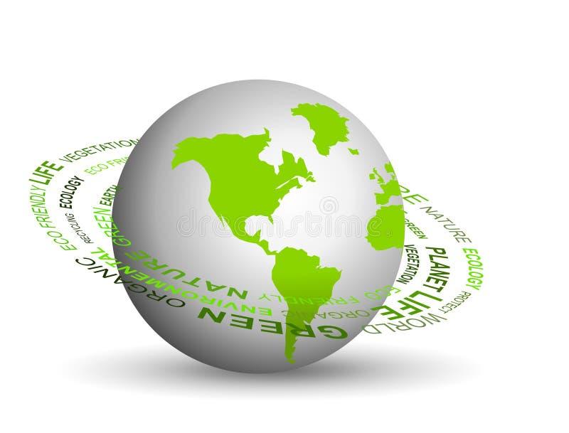 Ga groen concept stock illustratie