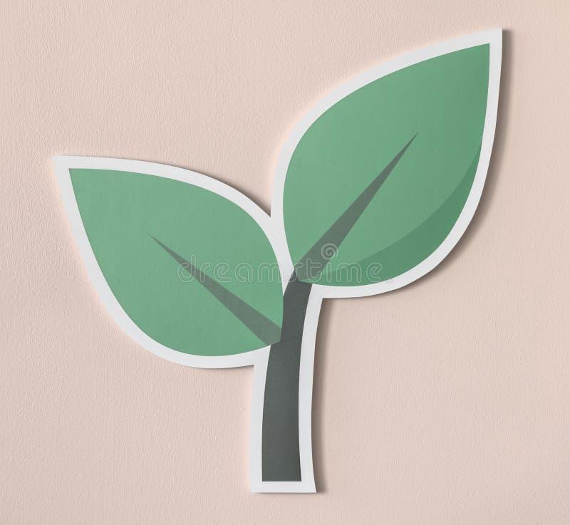 Ga groen denken groene handeling groen vector illustratie