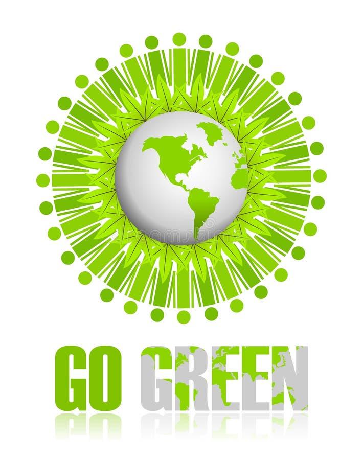 Ga Groen pictogram vector illustratie
