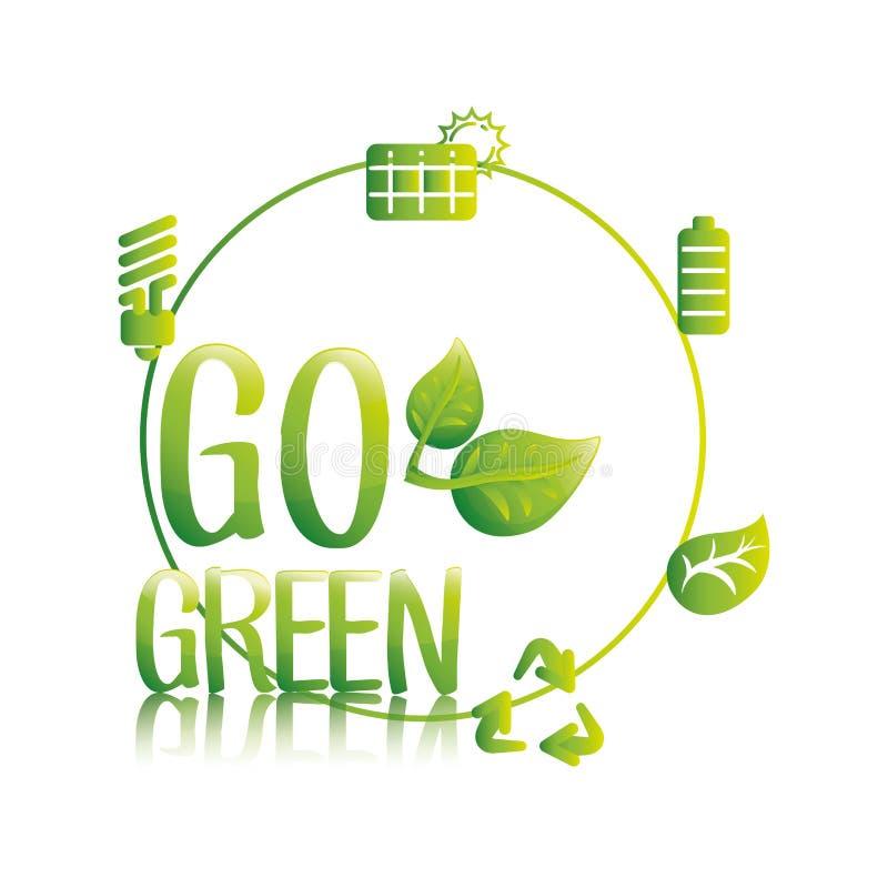 Ga groene eco sparen middelen royalty-vrije illustratie