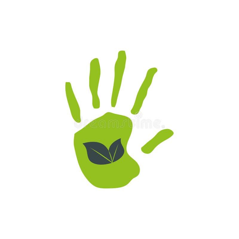 Ga groene ecologie royalty-vrije illustratie