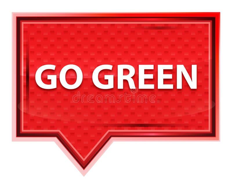 Ga Groene nevelig toenam roze bannerknoop stock illustratie
