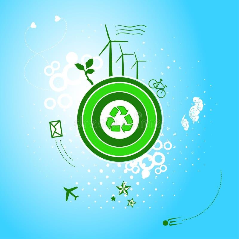 Download Ga groene planeet vector illustratie. Illustratie bestaande uit hart - 29509816