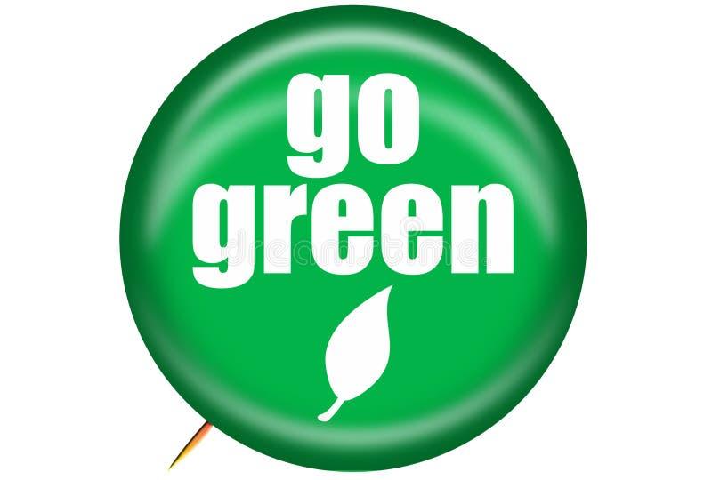 Ga Groene Speld royalty-vrije illustratie