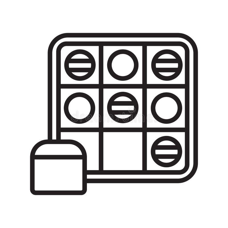 Ga het het vectordieteken en symbool van het Spelpictogram op witte achtergrond wordt geïsoleerd royalty-vrije illustratie