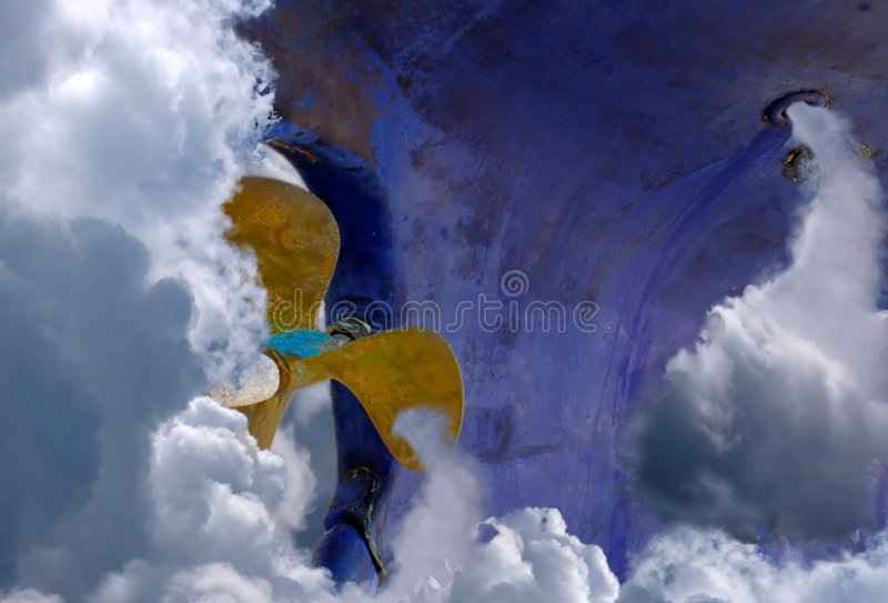 Ga naar hemel stock illustratie