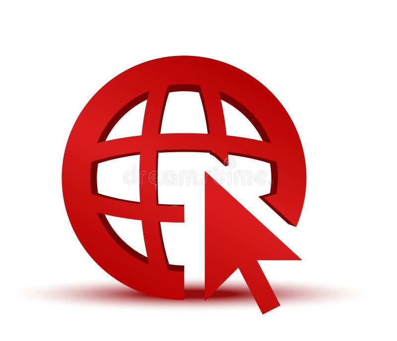 GA naar het pictogram van WebInternet vector illustratie
