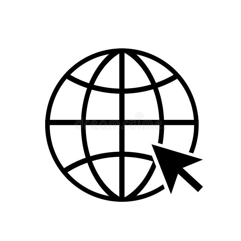 Ga naar het symbool van het Webpictogram stock illustratie