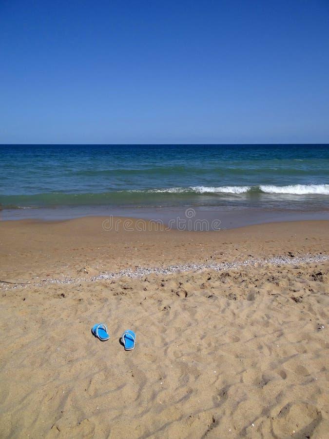 Ga naar het zeewater! stock afbeelding