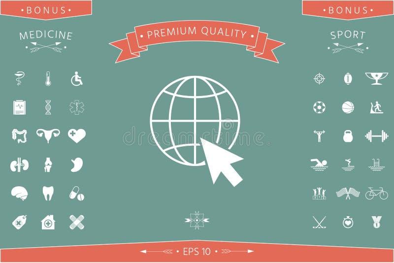 Ga naar Web, Internet-pictogram royalty-vrije illustratie