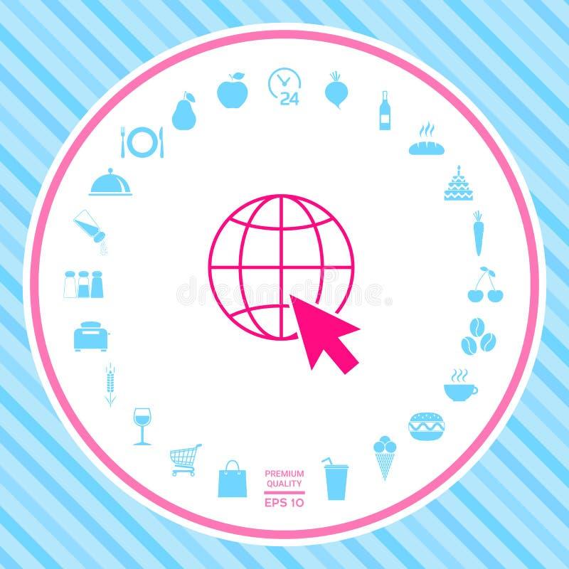Ga naar Web, Internet-pictogram vector illustratie