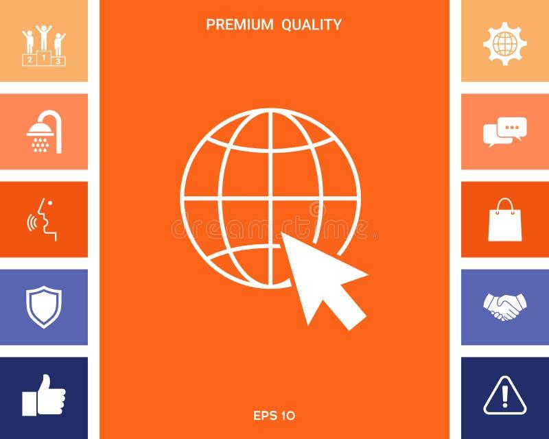 Ga naar Web, Internet-pictogram stock illustratie