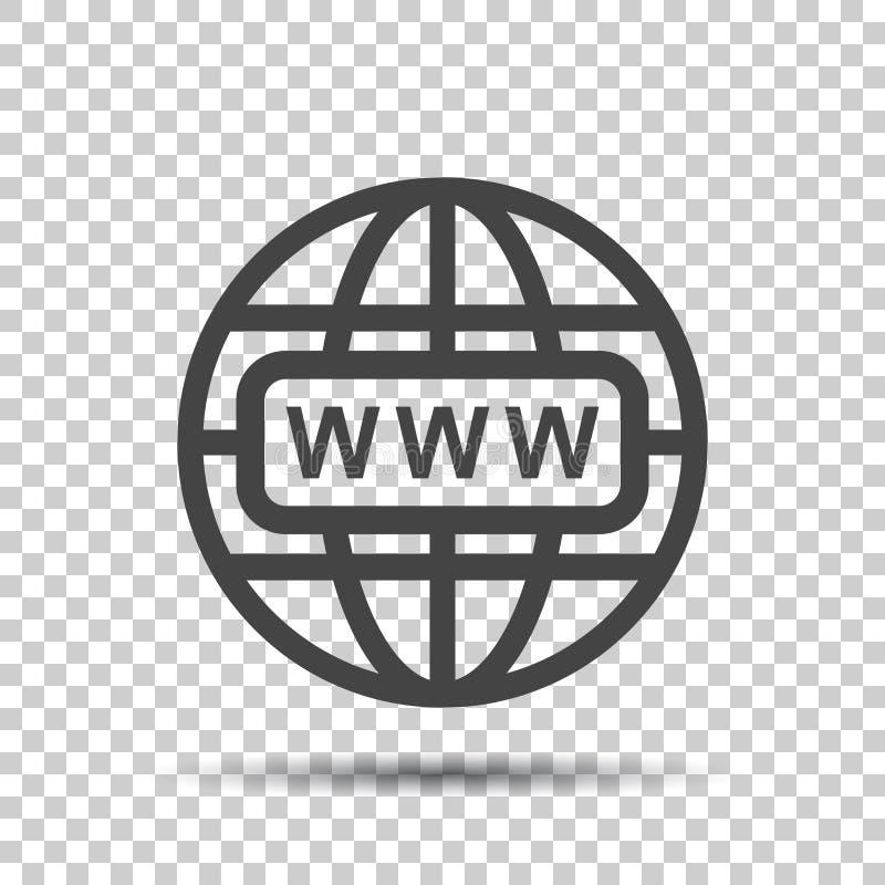 Ga naar Webpictogram De vlakke vectorillustratie van Internet voor website  royalty-vrije illustratie