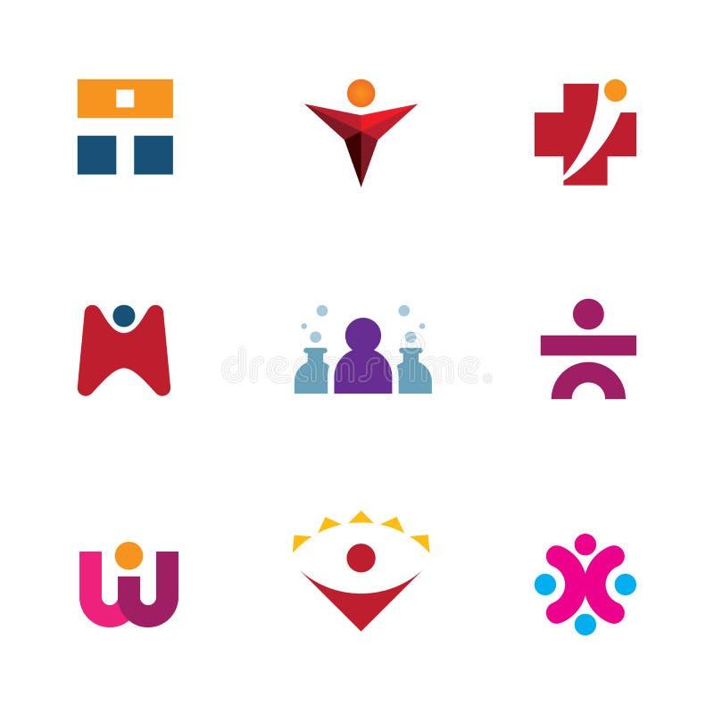 Ga onderzoeken de hulpzorg van wereldkansen voor anderen embleempictogram royalty-vrije illustratie