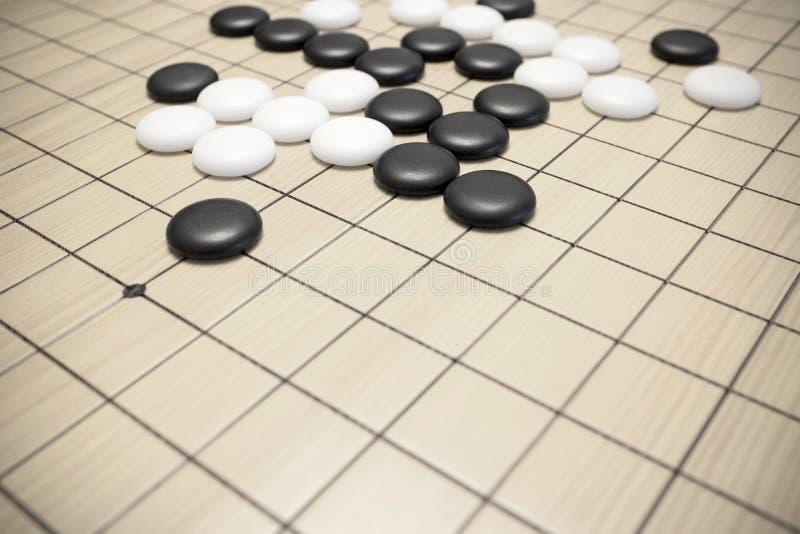 Ga spel of Chinees de raadsspel van Weiqi stock fotografie