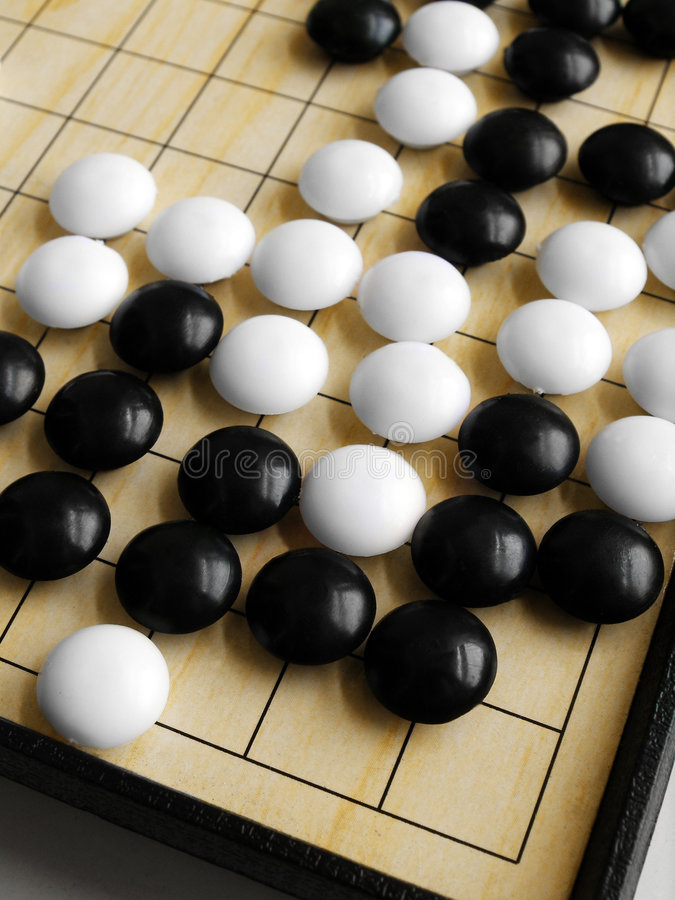 Ga spel of Weiqi royalty-vrije stock foto's