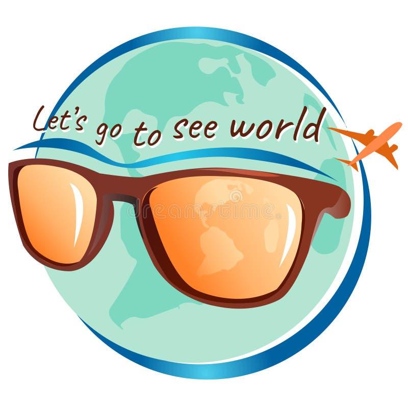 Ga wereld, vectorillustratie zien stock fotografie