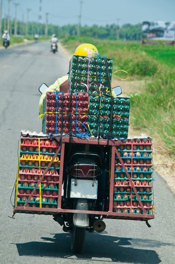 Gaand naar Markt, Vietnam stock afbeeldingen