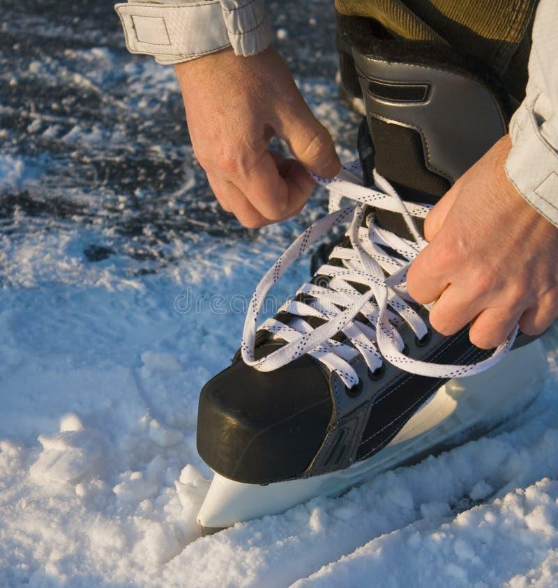 Gaande ijs-schaatst royalty-vrije stock fotografie