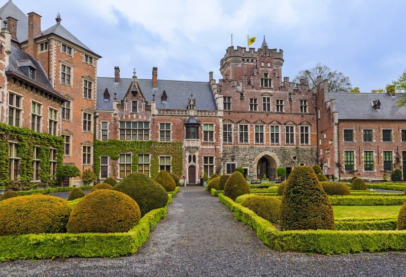 Gaasbeek Castle στις Βρυξέλλες Βέλγιο στοκ φωτογραφίες