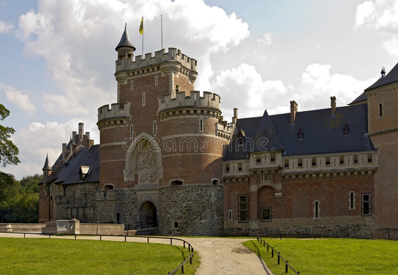 Download Gaasbeek Castle Main Entrance Stock Image - Image of robust, fortress: 25781067