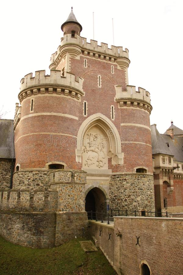 Gaasbeek-Schloss, Belgien lizenzfreie stockbilder