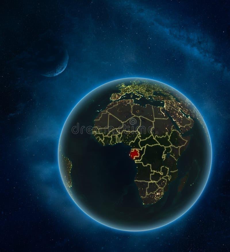 Gabón del espacio en la noche libre illustration