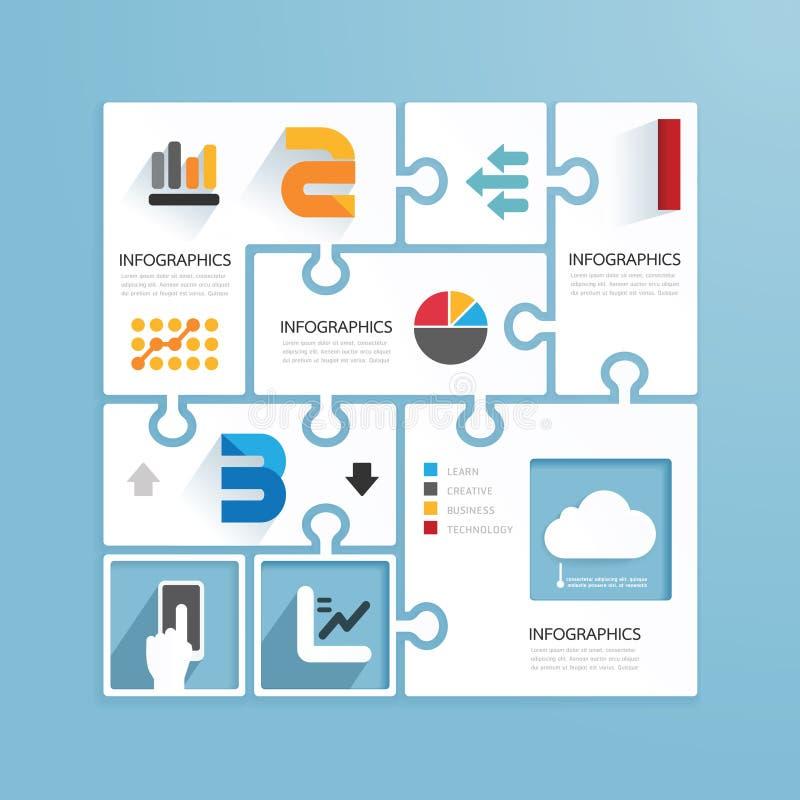Gabaritos de papel infographic do estilo mínimo do projeto moderno ilustração royalty free