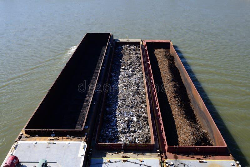 Gabarra del río Ohio foto de archivo