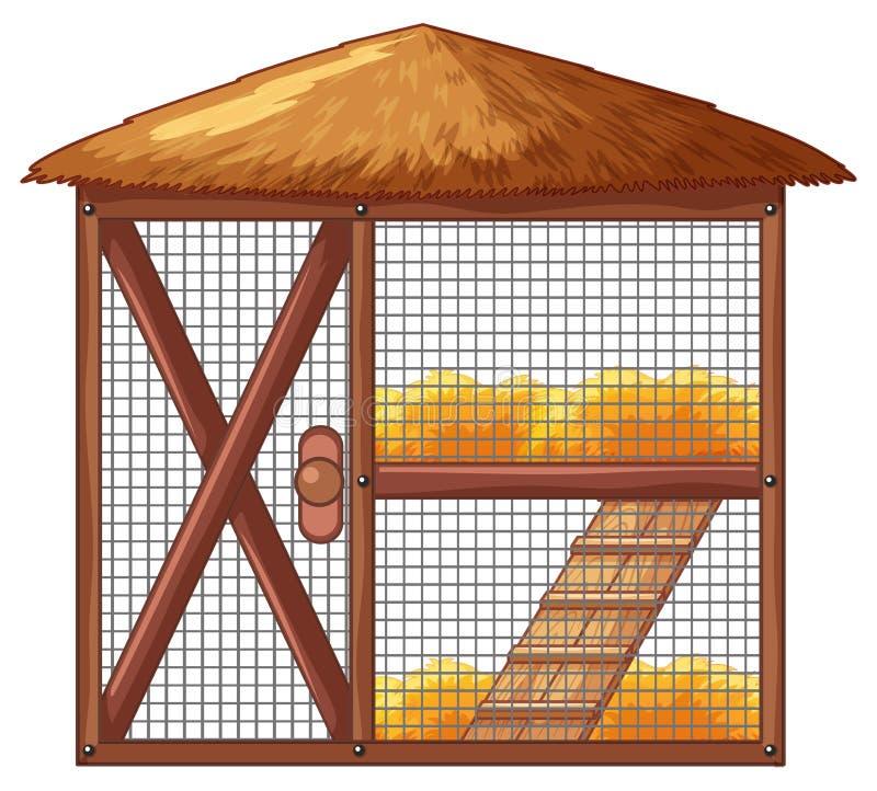 Gabbia di pollo senza il pollo royalty illustrazione gratis