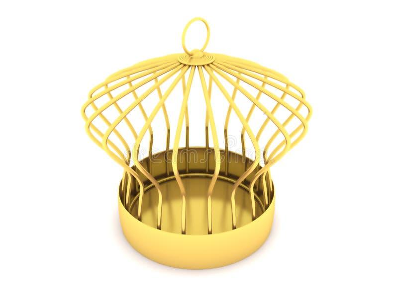 Gabbia dorata illustrazione di stock