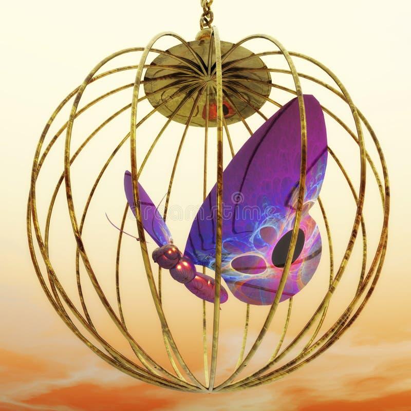 Gabbia dorata royalty illustrazione gratis