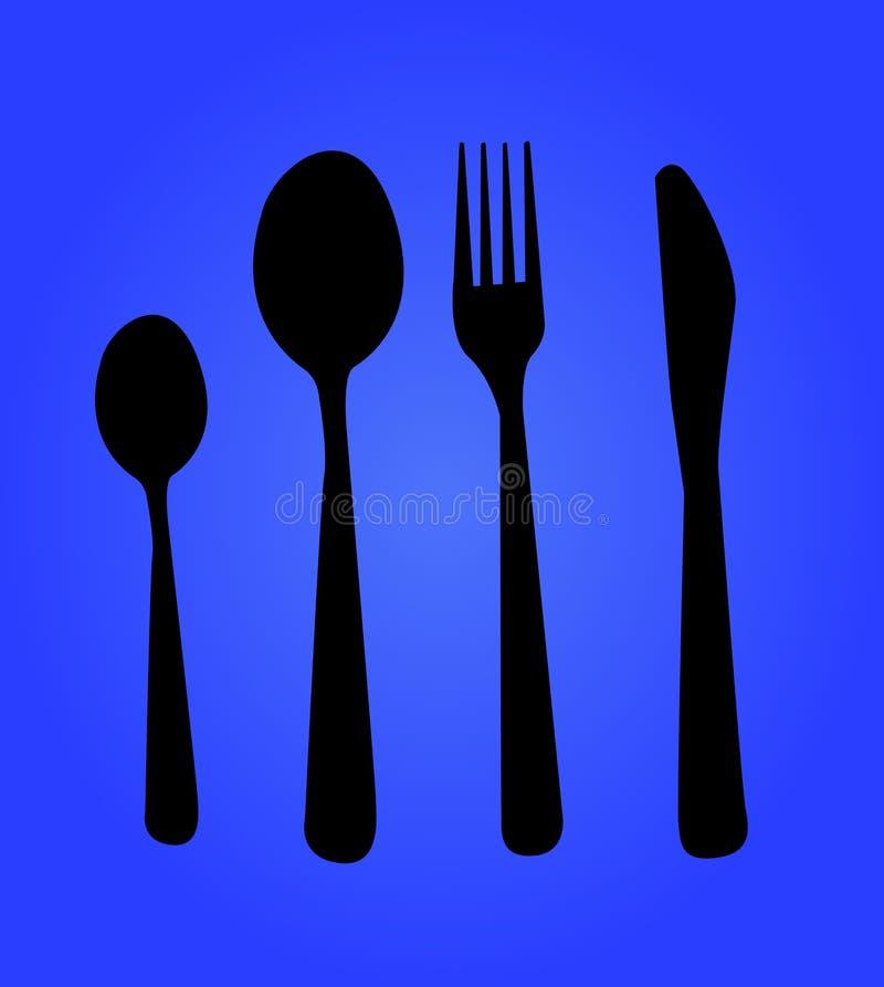 Gabel, Messer, Löffel stock abbildung