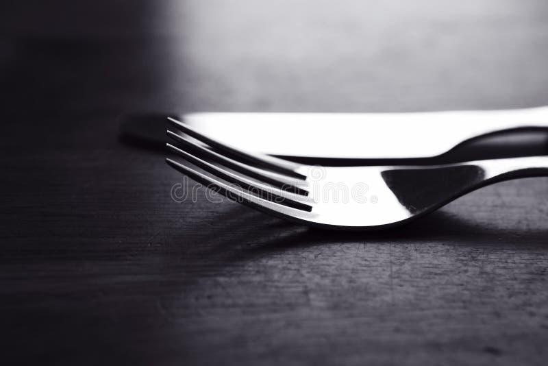 Gabel und Messer stockfotos