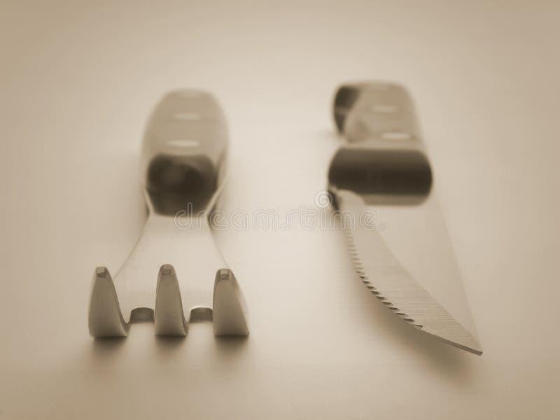 Gabel und Messer stockbild