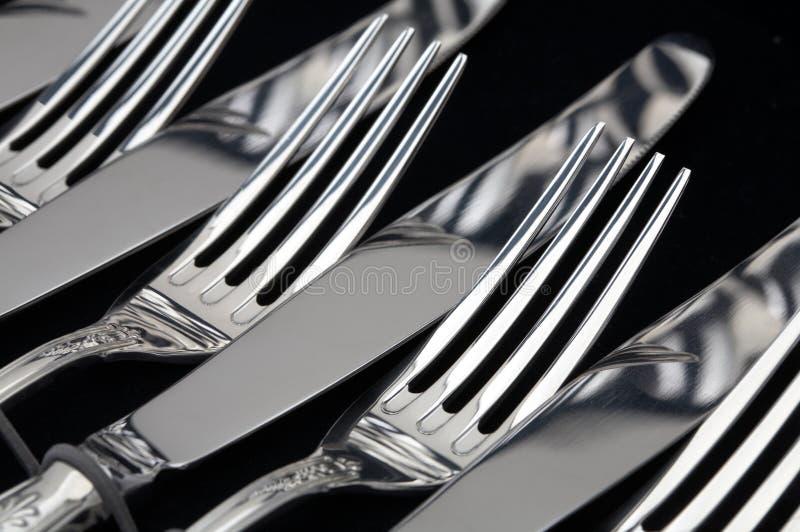 Gabel und Messer lizenzfreie stockbilder