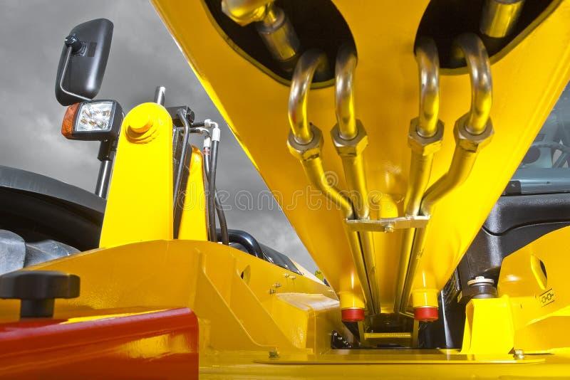 Gabelstaplerhydraulik stockbilder