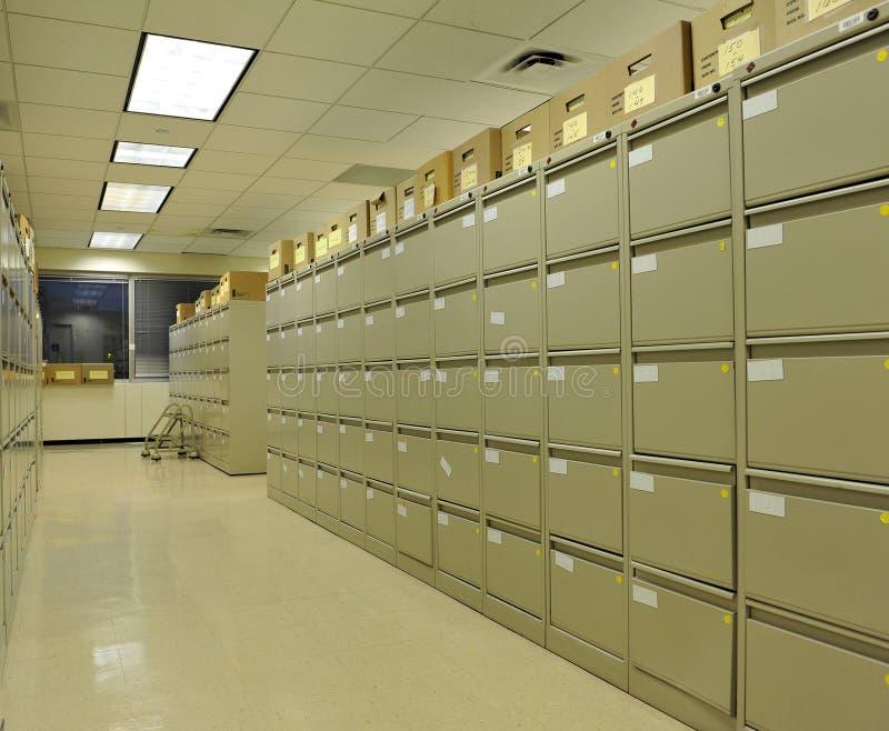 gabinetów kartoteki biuro zdjęcia stock