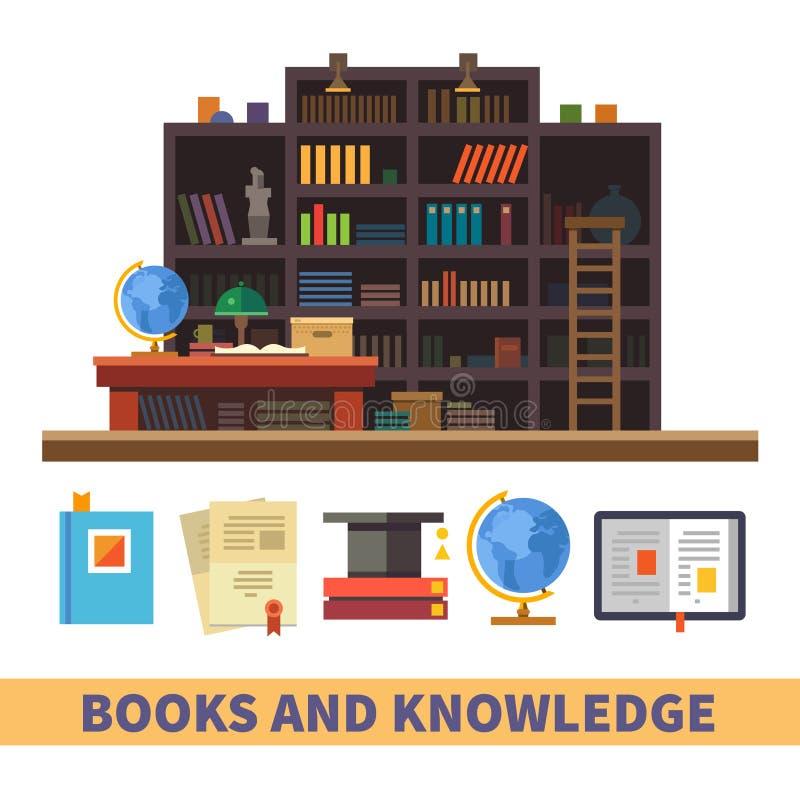 Gabinet i biblioteka royalty ilustracja