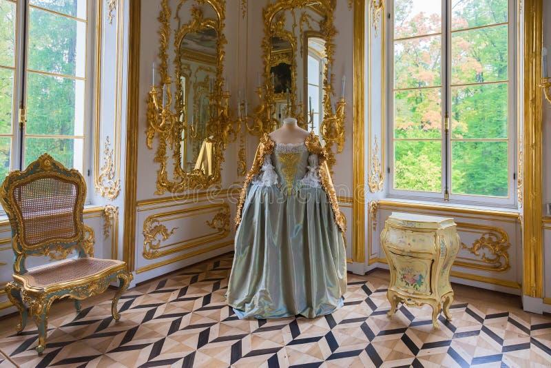 Gabinet w eremu pawilonie w Catherine parku, Tsarskoye S zdjęcie stock