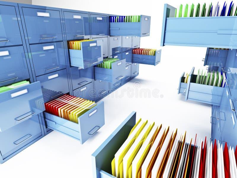 Gabinete de arquivo 3d ilustração royalty free