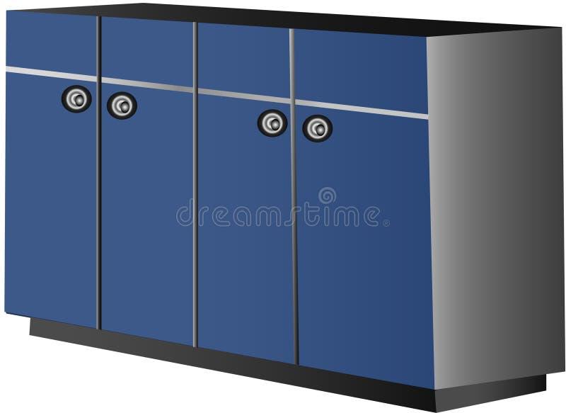 Gabinete de cozinha ilustração stock