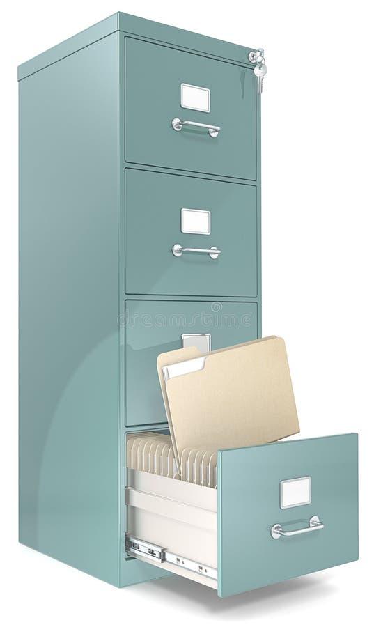 Gabinete de fichero. stock de ilustración