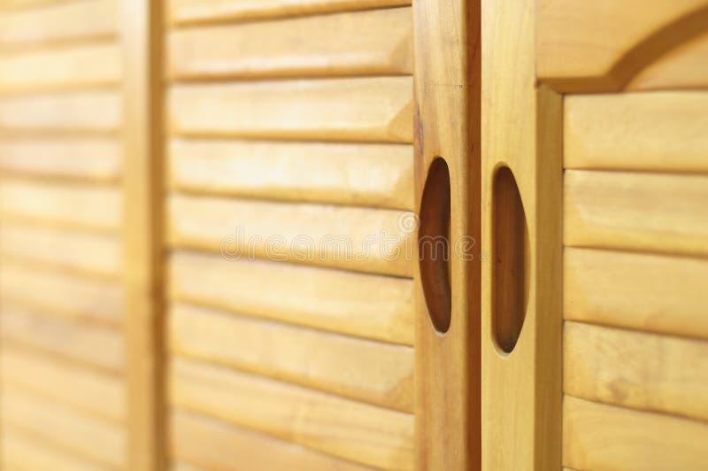 Gabinete de madera sólida fotos de archivo