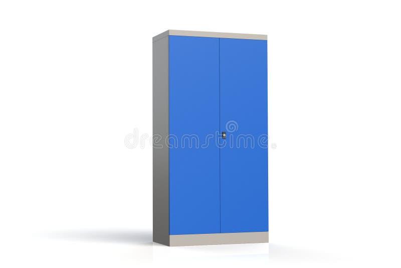 Gabinete del metal con los estantes para las herramientas Estantería incombustible para los documentos representación del modelo  ilustración del vector
