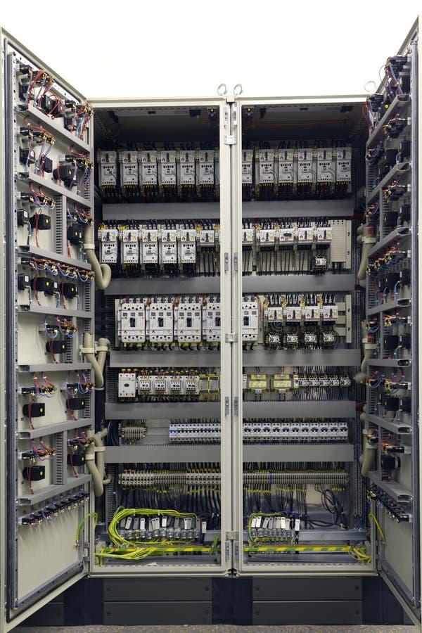 Gabinete do equipamento elétrico foto de stock